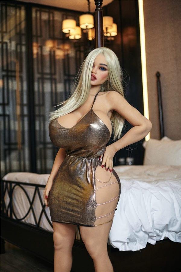 140cm irontech sex doll joan showing body closeup