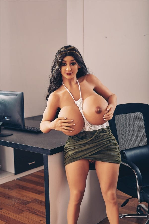 140cm irontech sex doll jojo showing one open nipple-1
