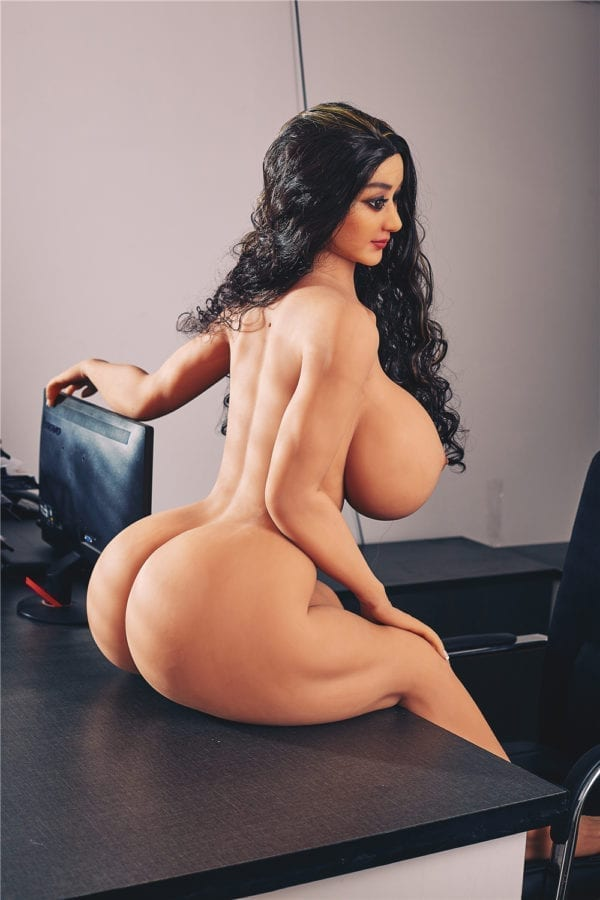 140cm irontech sex doll jojo showing nude body from side