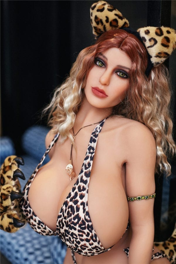 140 cm irontech sex doll maria showing cat brown glaves