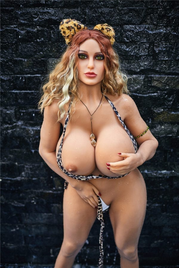 140 cm irontech sex doll maria showing one open nipple