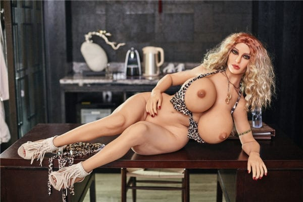 140 cm irontech sex doll maria showing nude boobs by lying